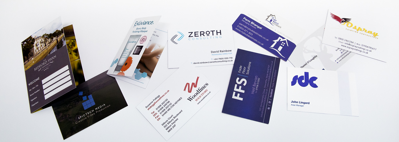 selection of business card samples